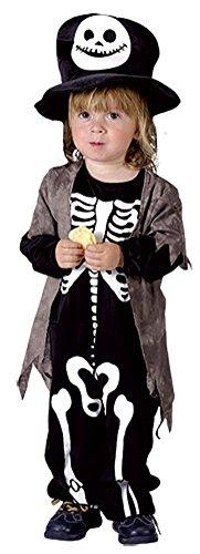 Girls Boys Halloween Jangle Bones Skeleton Costume Toddler