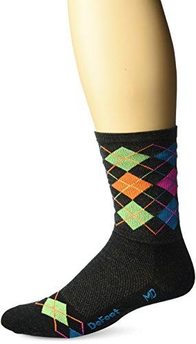 DeFeet Wooleator Argyle Socks, Large, Charcoal