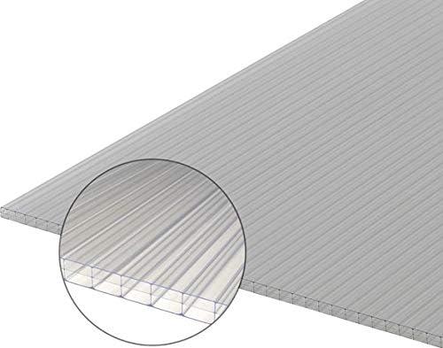 Plaque en polycarbonate alv/éolaire transparent trait/é UV 6mm 410x495 mm