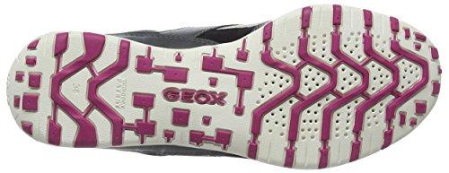 Geox D Freccia, Baskets Basses femme Gris - Grau (LT GREY/BLACKC0060)