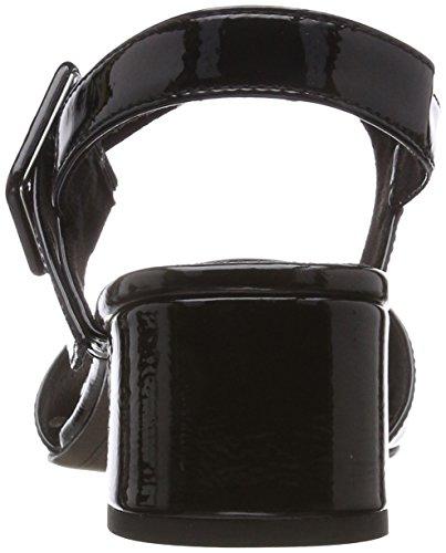 para de 28211 Mujer Tamaris Negro Talón Sandalias Black Abierto Patent AXpwOq