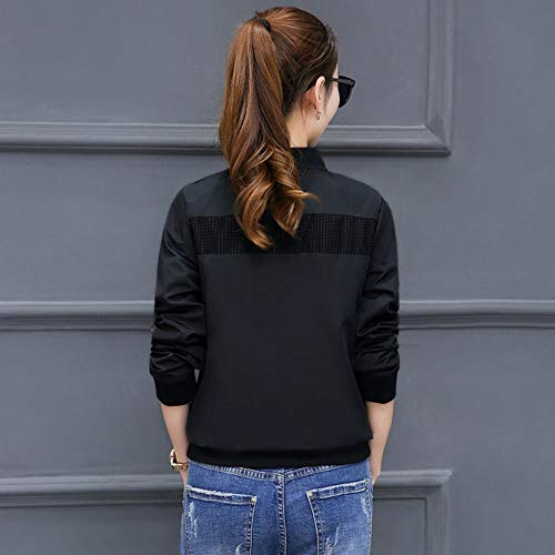 da donna casual giacca POLO XXXXL donna Semplice SED rosa Nero da Camicia donna collo ricamata qE0tw14n