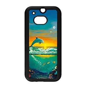 diy zhengCute Dolphin Patterned Sunset Ocean Sea Snap on Hard Plastic Back Case Cover for Personalized Case for iphone 5c Case-Perfect as Christmas gift(4)