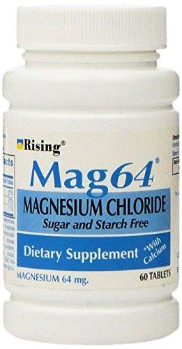 Rising Mag64 Magnesium Chloride with Calcium Tablets, 300 Count, (Pack of 5) (Magnesium Chloride Tablets)