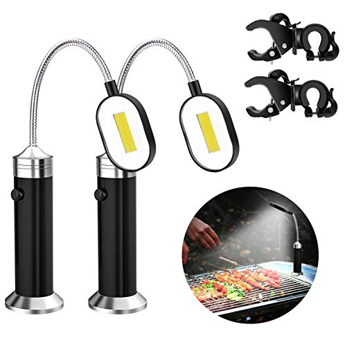 ACVCY Grill Lights for BBQ,10 LED Super Bright Magnetic Grill Light Work Task Light with Adjustable...