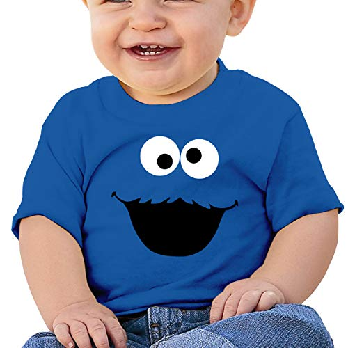 Baby Boy Girls Washed Cotton Shirt Cookie Monster Cute Toddler Kids Summer Funny T Shirt