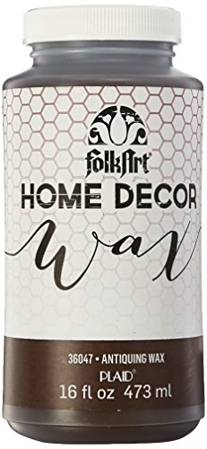 FolkArt 36047 Home Decor Chalk Furniture & Craft Paint in Assorted Colors, 16 ounce, Antique Wax from FolkArt