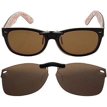 da508781f125d ... shop custom polarized clip on sunglasses for ray ban rb5184 54mm 54 18  145 brown 479e6