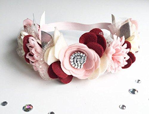 felt flower crown floral crown baby flower crown