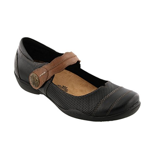 Taos Footwear Donna Bravo Mary Jane Nero Multi