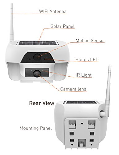 Lxory solar powered wireless outdoor wifi surveillance for Motorized security camera system