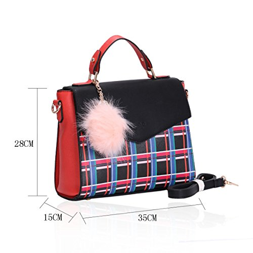 LYDC - Bolso de asas para mujer L60163Red L60163Red