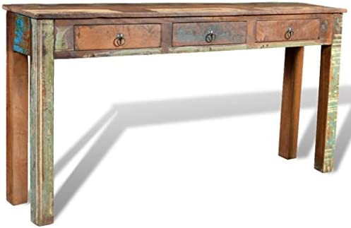 Amazon.com: vidaXL Reclaimed Wood Side Table/Console Table with 3