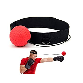 Fight-Ball Trainingsgerät Kampfball mit Stirnband für Boxen Training