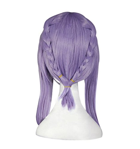Shinoa Hiragi Costume (Dazcos Anime Seraph of the End/Owari no Seraph Shinoa Hiiragi Purple Braids Cosplay Wig (wig))