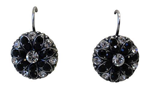 Mariana Checkmate Swarovski Crystal Flower Earrings 280-1