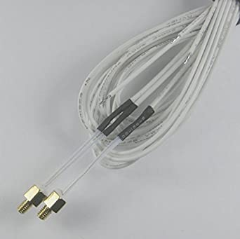 2pcs M3 Screw on Modular Design NTC 3950 100k Thermistor with 1m Cable Wire