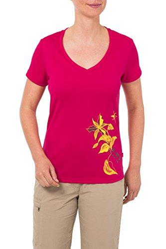 VAUDE Mayas, T Camiseta para. extraligero. Exterior, tiempo libre, senderismo. Sin sustancias nocivas. Darkred.
