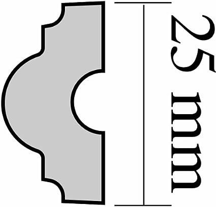 DECOSA Zierprofil SFP 25-30 Leisten /à 2 m L/änge = 60 m Edle Wandleiste in Wei/ß Selbstklebende Flachleiste Zierleiste aus Styropor 10 x 25 mm