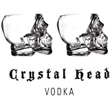 Crystal Head Vodka Skull Shot Glass x2 (Dan Aykroyd)