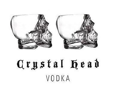 Crystal Head Vodka Skull Shot Glass x2 (Dan Aykroyd): Amazon.co.uk ...
