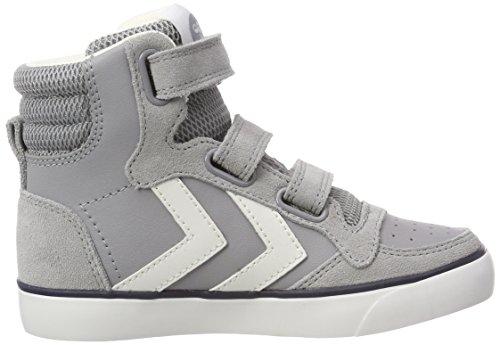 Hummel Unisex-Kinder Stadil Leather Jr Hohe Sneaker Grau (Alloy)