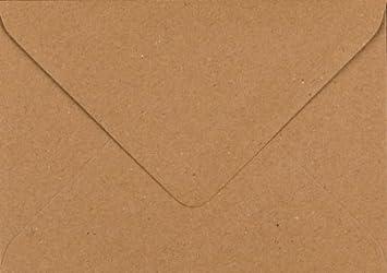 colore: marrone in carta Kraft in materiale riciclato marrone formato C6 Fleck buste