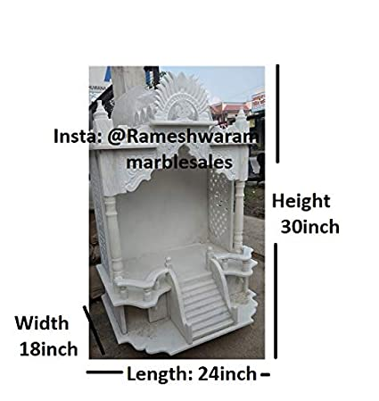 Amazon Com Rm Marble Temple 30 18 Inch For Puja Office Home