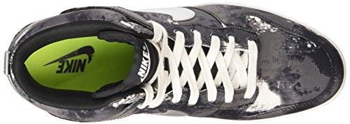 Nike  Dunk Sky Hi Print - Zapatillas para mujer Black/Metallic Silver/Volt/Gum Med Brown