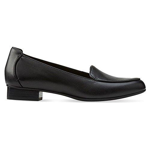 Clarks mujer Keesha Luca Slip-On Loafer Negro