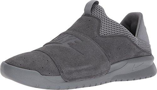 Nike Mens Benassi Slip Athleisure Slip On Casual Shoes Gray 10 Medium (D)