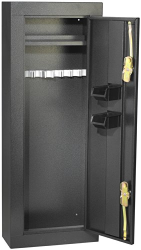 First Watch / Homak 8-Gun Security Cabinet, Gloss Black, HS30103660