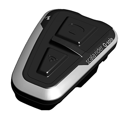 - Cardo Scala Q-Solo Bluetooth Motorcycle Headset, The Essential Communicator for The Lone Rider (Black,)