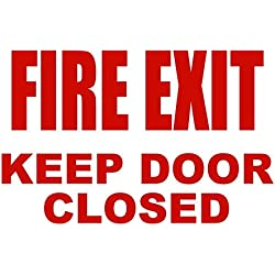 "BuildASign Fire Exit Keep Door Closed Safety Sign- 7"" x 10"", Decal"