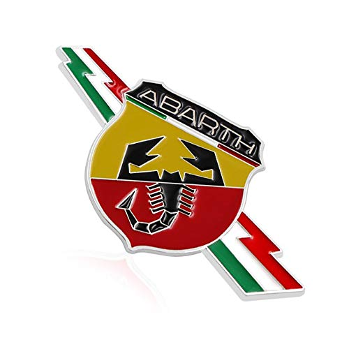 BENZEE 2pcs B023 Car Chromed Emblem Badge Decal Fender Sticker ABARTH Italy For FIAT 124 125 125 500 695 OT2000 Coupe