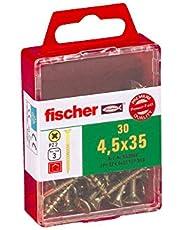 Fischer Power-F 659244 houtbouwschroef Verzonken kop 4,5x35 geel verzinkt