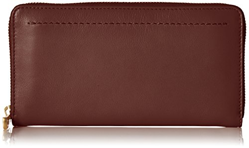 - Cole Haan Zoe Continental Zip Around Leather Wallet, Fired Brick