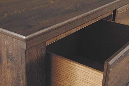 Ashley Furniture Signature Design - Quinden Dresser - 7 Drawer - Dark Brown