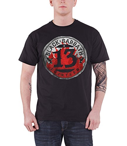 Black Sabbath T Shirt 13 Flame Circle Band Logo Official Mens (Flame Logo Mug)