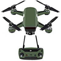 Skin for DJI Spark Mini Drone Combo - Solid Olive| MightySkins Protective, Durable, and Unique Vinyl Decal wrap cover | Easy To Apply, Remove, and Change Styles | Made in the USA
