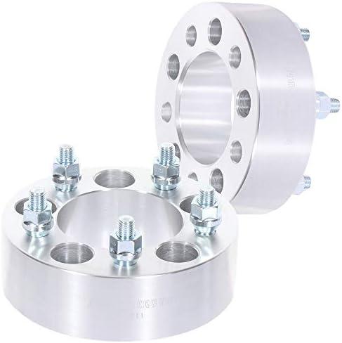 ECCPP 交換用パーツ ホイールスペーサー 5x4.75~5x4.75、12x1.5 87.1mm 2はシボレー・カマロ・シボレー・コルベット・シボレーS10にフィット silver シルバー 115482-5211-1013453871