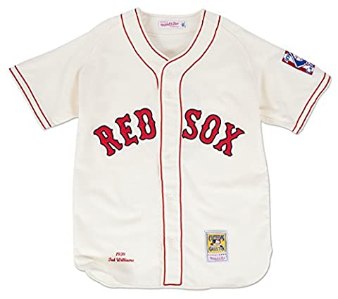 Boston Red Sox Authentic 1939 Ted Williams Home Jersey By Mitchell & Ness 44 - Boston Red Sox Authentic Game