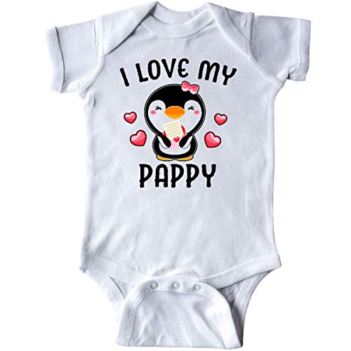 (inktastic - I Love My Pappy with Cute Penguin Infant Creeper Newborn White 342f3)