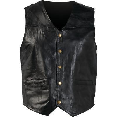 Giovanni Navarre Italian Stone Design Genuine Leather Vest (5XL)
