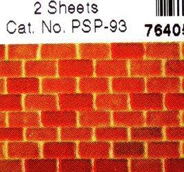 Amazon com: Model material paper pattern sheet PSP-93 brick 2 pieces