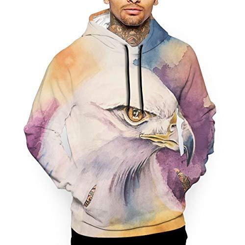 - Go KJ Unisex White Eagle Hoodies Cute Pullover Hood Jackets Sweatshirt