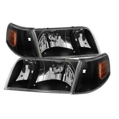 Xtune HD-JH-CRVI98-SET-BK Crown Victoria Headlight