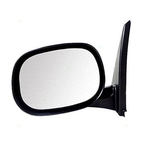 Drivers Manual Side View Mirror Textured Replacement for Dodge Van (Dodge Van Manual Replacement)