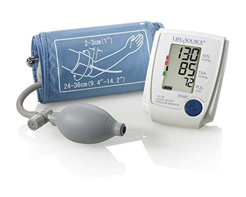 Monitor Blood Pressure Inflate (LifeSource UA-705VL Advanced Manual Inflate Blood Pressure Monitor with Large Cuff and Pressure Rating Indicator)