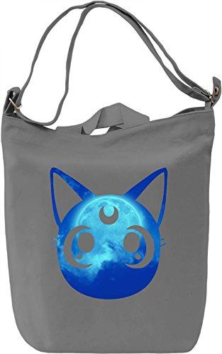Luna Borsa Giornaliera Canvas Canvas Day Bag| 100% Premium Cotton Canvas| DTG Printing|